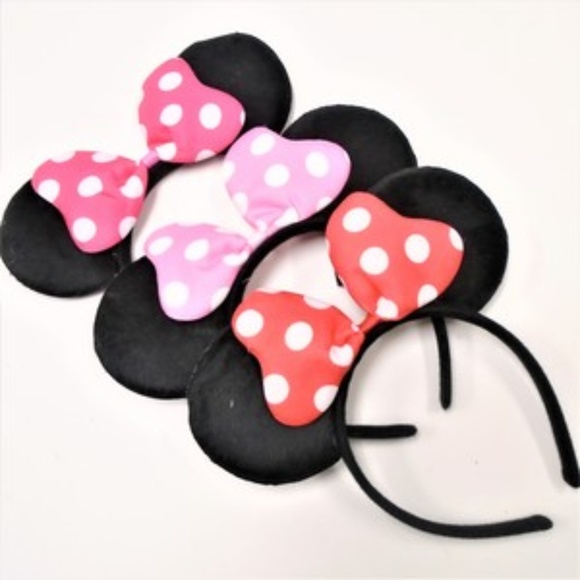 Polka Dot Mouse Headband Ears Kids or Adults